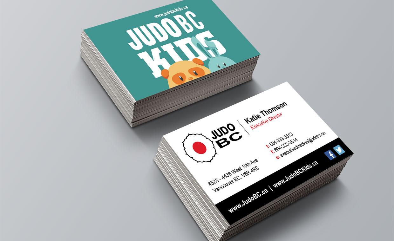 business card design vancouver  judo bc  kota media