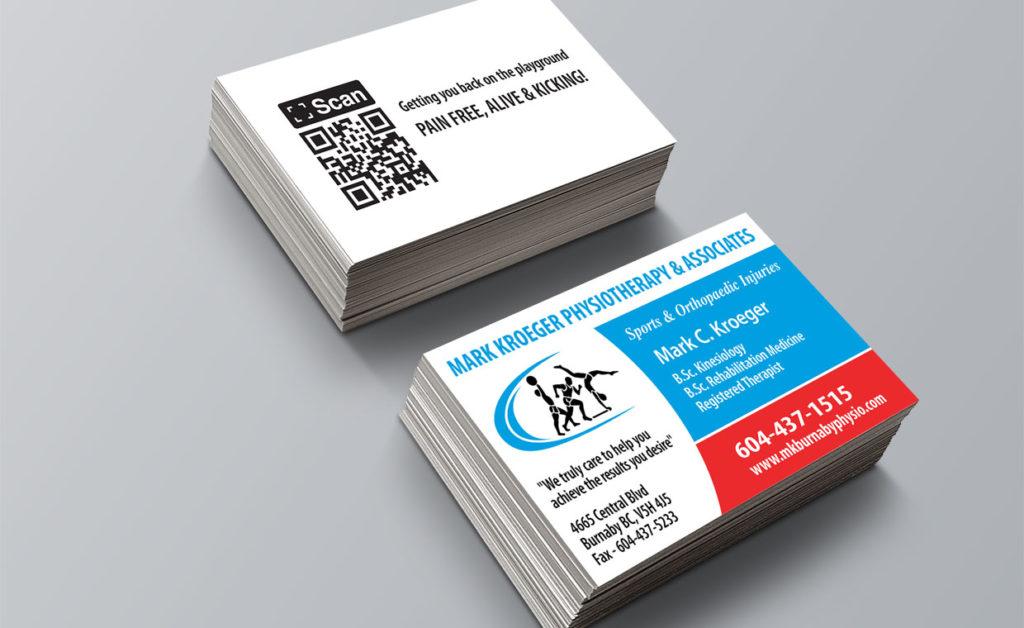 business card design vancouver  mark kroeger